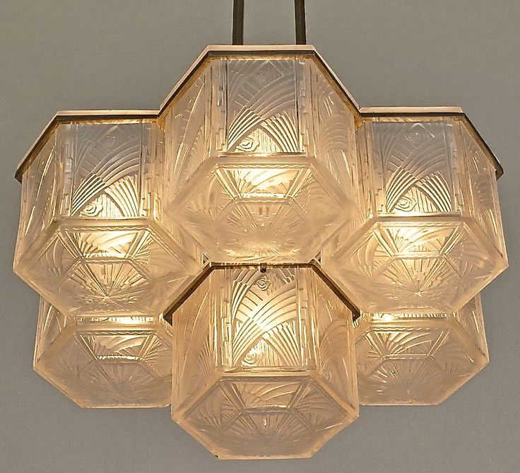 Hettier Vincent Chandelier 1930