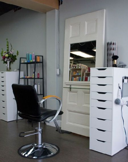 HairStation using IKEA storage visit www.ukhairdressers.com for #hairdressing inspiration