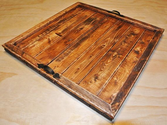 Large Serving Tray, Large Ottoman Tray, large tray, rustic serving tray,  rustic tray, rustic ottoman tray, serving tray, ottoman tray - 25+ Best Ideas About Large Ottoman Tray On Pinterest Large