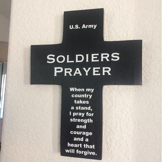 U.S. Navy Cross Soldiers Prayer Handmade with by Frameyourstory
