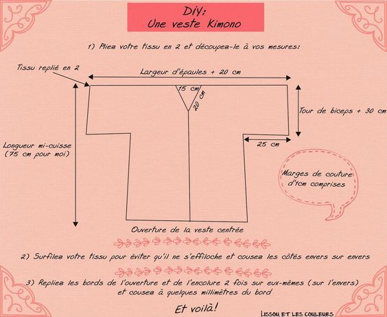 Lissou et les couleurs: DIY: Une veste kimono ...