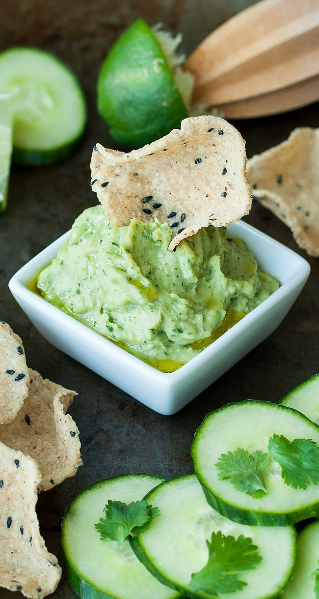 Healthy Cilantro Avocado White Bean Dip :: Vegan + GF