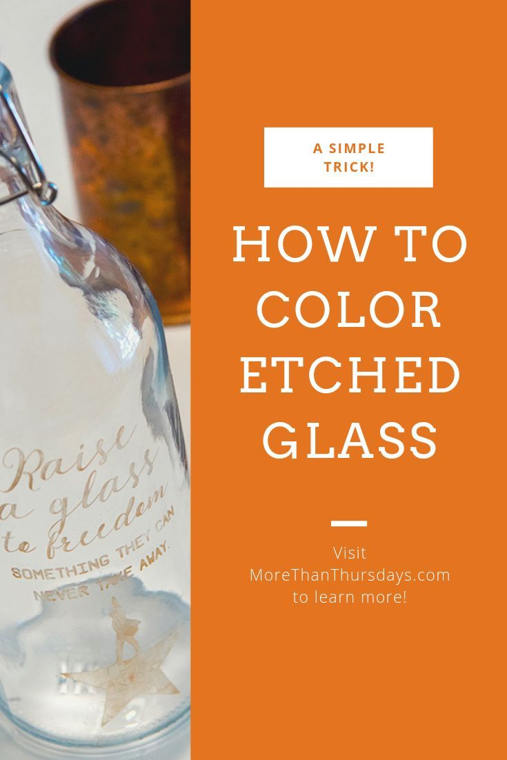 Coloring etched glass - Silhouette tutorial | Geek Love | Glass ...