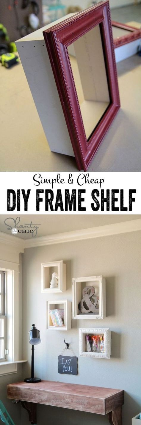 DIY Frames for Wall Decor:  Turn the simple frames from the local thrift store i… DIY Frames for Wall Decor:  Turn the simple frames from the local thrift store into these expensive frames by attaching wood to all sides and hang ..  http://www.wersdecor.website/2017/05/04/diy-frames-for-wall-decor-turn-the-simple-frames-from-the-local-thrift-store-i/