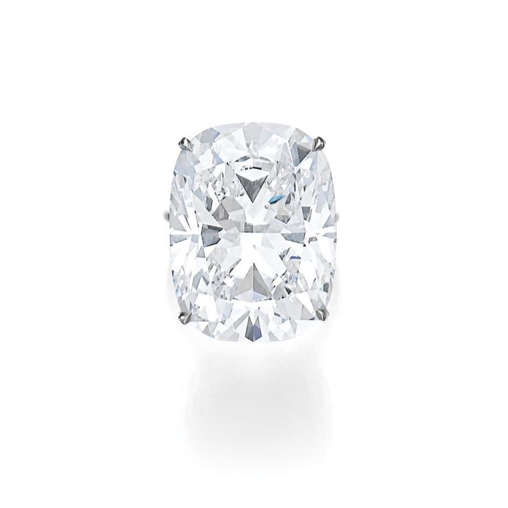 Superb diamond ring | Set with a cushion-shaped diamond weighing 33.58 carats, D Colour, Flawless, Type IIa | Sotheby's