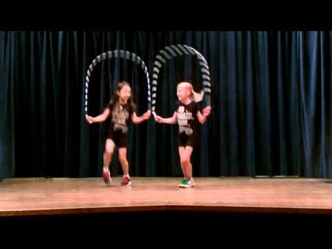 Jump rope choreographed to music More