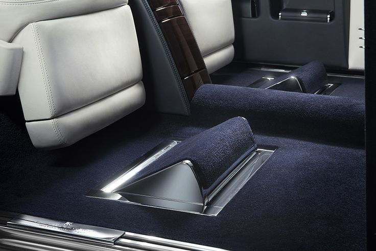 Rolls-Royce Phantom Limelight Collection 2015, Floor Footrest Detail. More Images On The Following Link: https://www.carspecwall.com/rolls-royce/bespoke-collection-cars/phantom-limelight-collection-2015/