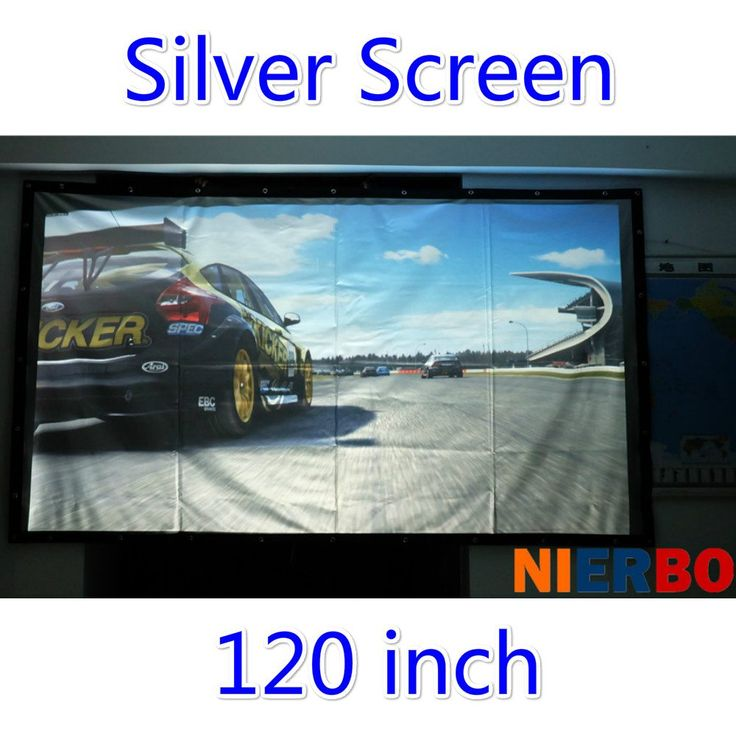 """120"""" 16:9/4:3 Portable Fast Fold metal Film Material Manual Silver Projection Screen for Home Theater 3D LED DLP LCD Projector //Price: $188.49//     #onlineshop"""