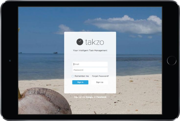 Takzo is a fun task management performance based application. #Takzo #Task #TaskIsFun #TaskManagement #ProjectManagement #App #WebApp #Application #startup #UI #UX #Design #BMW #Indonesia #Background #Custom #iPad #Apple #SignIn #SignUp #Email #Beach