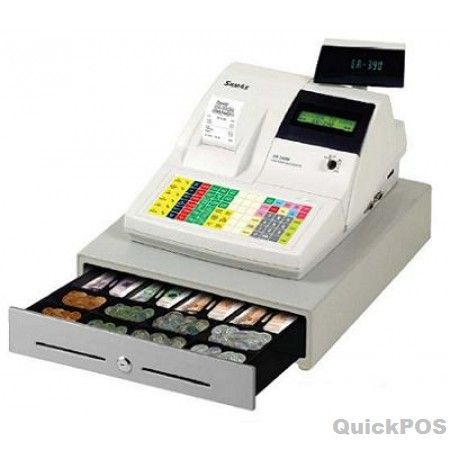 Point of SALE in branded SAM4S ER390M Cash Register with Membrane Keyboard Ivory at QuickPOS online store..!  http://www.quickpos.com.au/cash-register-sam4s-er-390m
