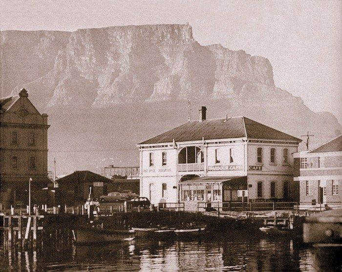 The Harbour Cafe was the first restaurant at the V&A Waterfront (photographed in1963)