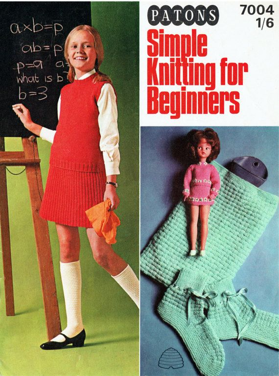 PDF Vintage Sindy Barbie Doll Clothes Knitting Pattern Booklet