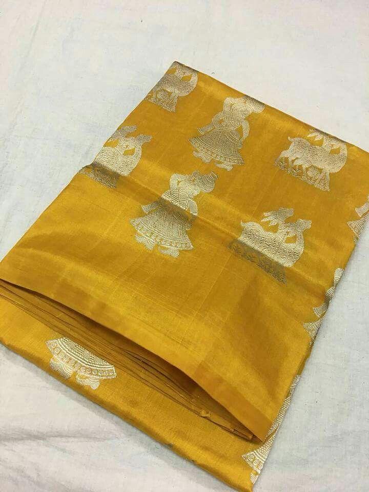 Pure Kanchivaram silk saris ( High quality ) Order what's app 7995736811