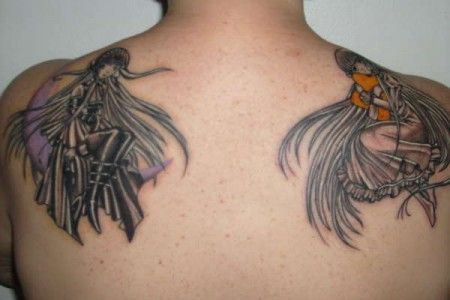 Good And Evil Tattoo Design