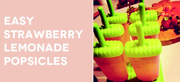 easy strawberry lemonade popsicles from #collectandcarry