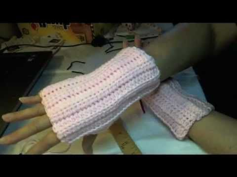 Easiest, Fastest , #Crochet Fingerless Gloves Wristers - I love how quickly and easily these work up.. fit great