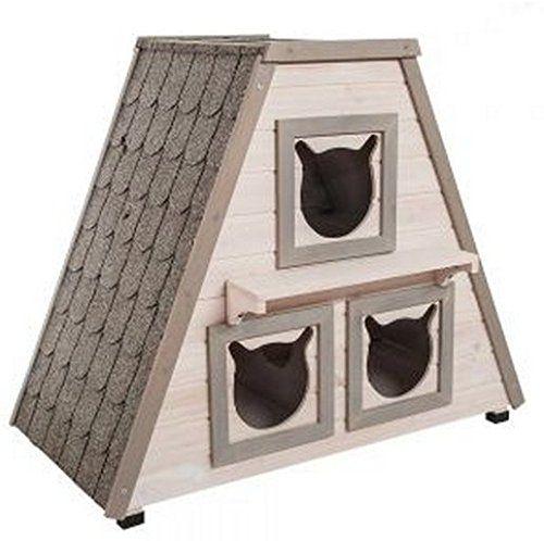 The Perfect Wooden Outdoor Cat House w/ 3 Separate Sleepi... https://www.amazon.co.uk/dp/B00QKGLXMW/ref=cm_sw_r_pi_dp_x_6RNmzbZ60FXA3