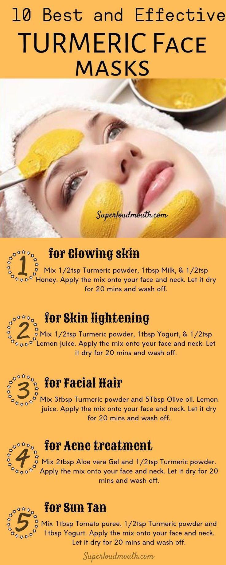 Top 12 beauty tips in 12  Diy turmeric face mask, Skin face mask