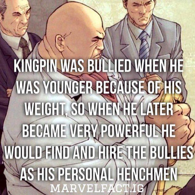 Marvel Fact: Kingpin's Bully Irony
