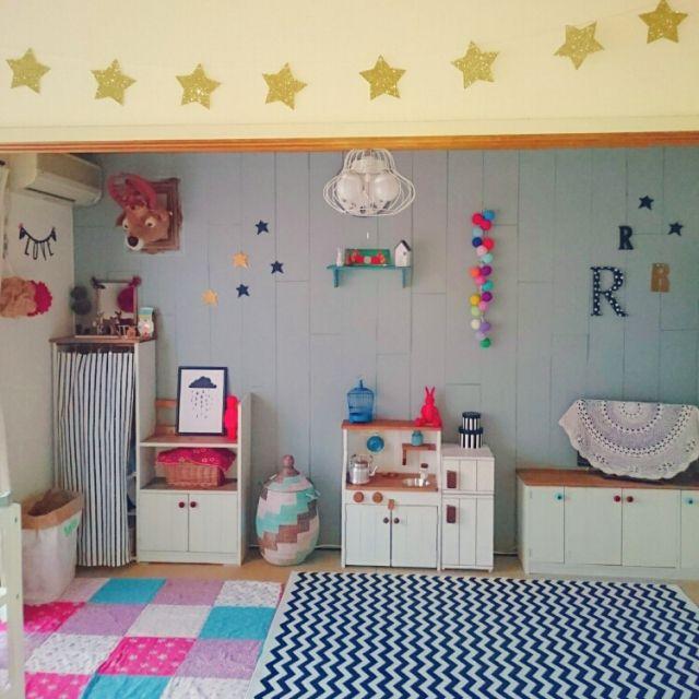tonpuさんの、星,カラフル,和室,子供部屋,部屋全体,のお部屋写真
