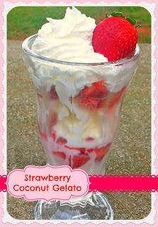 Strawberry Coconut Gelato | Recipes | Pinterest