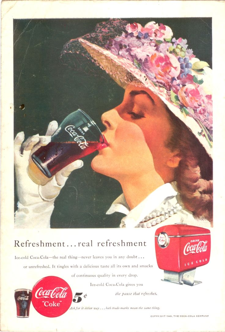 Coca-Cola Vintage Advertisement Prints