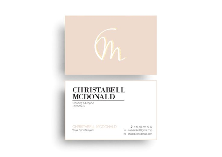 Christabell McDonald - Business Card Design