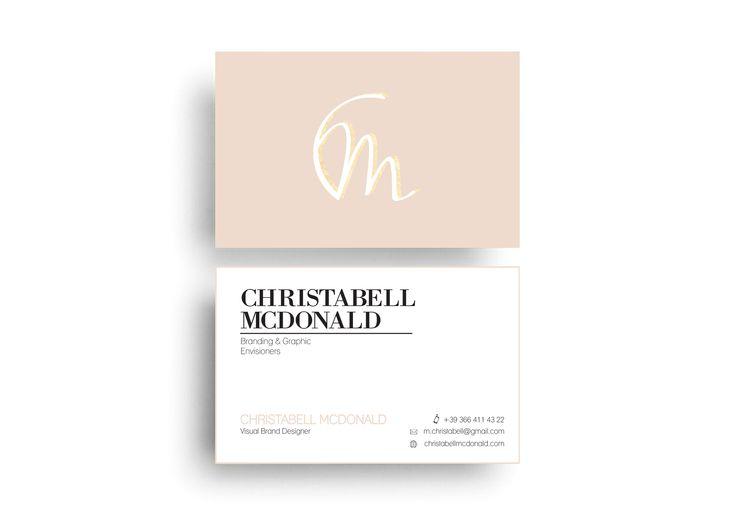 Christabell McDonald - Business Card Design
