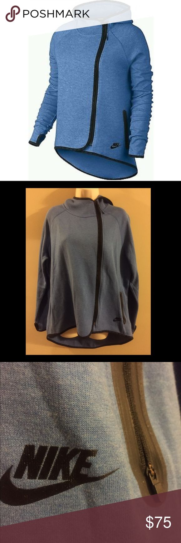 Ladies Nike Fleece Tech Cape Hoodie-XL Nice (XL) Nike fleece hoodie that looks great over Nike athletic leggings.  Very warm and comfy and is great for everyday wear or during workouts. Looks great on. Nike Jackets & Coats