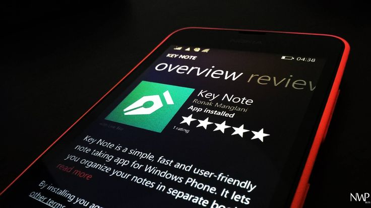 Key Note is an amazing way yo keep your notes organized - Nokia WP Blog