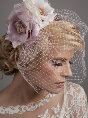 Beautiful blossoming Forties inspired bridcage veil - The Chickadee Xx