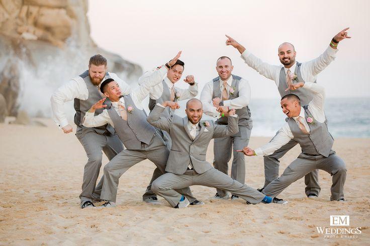 Groom and Groomsman at Grand Solmar Los Cabos. #emweddingsphotography #destinationweddings