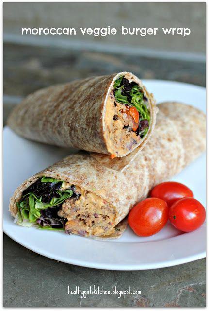Moroccan Veggie Burger Wraps   Plant-Based Nutritarian Weight Loss Recipe Blog   #recip, #Vegan, health, weight loss