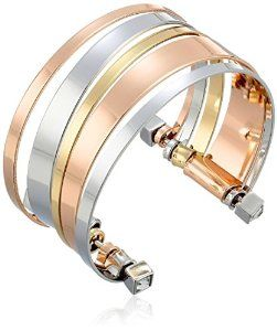 Just found this #trendy tri-tone cuff bracelet, love the layered illusion! #krissylovesbling