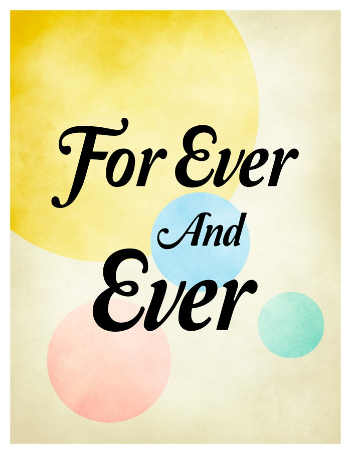 For Ever And Ever Love Quote Print Valentines Day