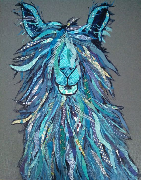 Jeremy Alpaca Full Of Blues Original Paper by zouzousbasement, $375.00