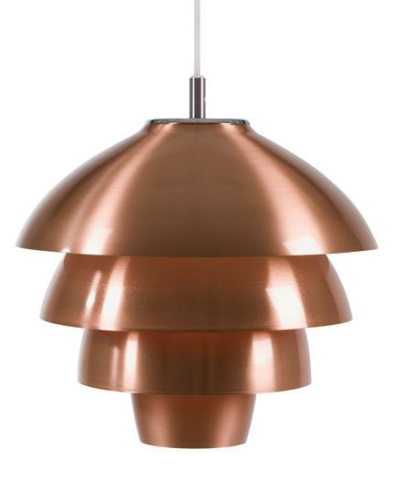 En kotte kopparlampa att smycka hemmet med, Valencia, från vår tillverkare Belid. Pris mässing och vit EM.com