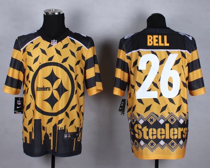 mens nfl pittsburgh steelers 26 leveon bell noble fashion elite jersey