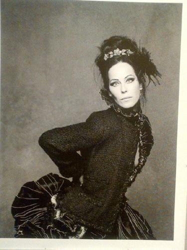 Lady Amanda Harlech for Chanel's The Little Black Jacket