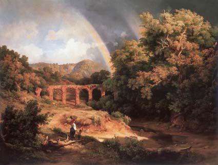 Paisagem Italiana com Viaduto e Arco-Íris (1838). Károly Markó, o Velho…