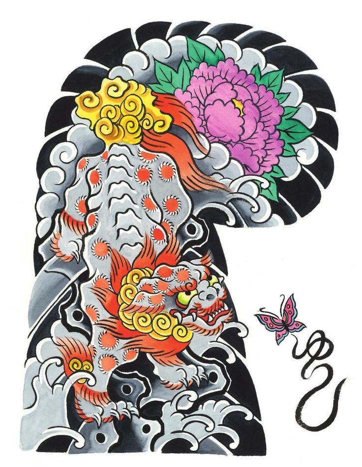 37 best images about tattoos on pinterest foo dog for Japanese tattoo flash