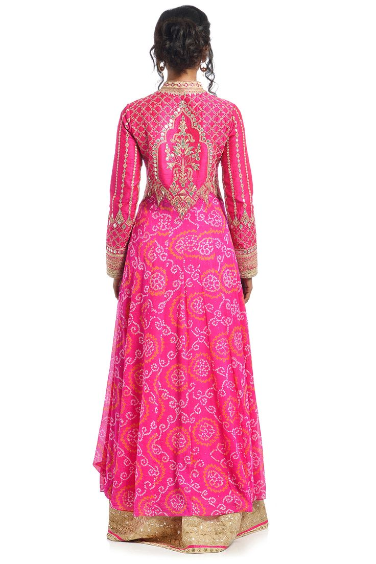 Pink Bandhani lehenga | Anita Dongre | Rent Designer Lehenga | Swishlist