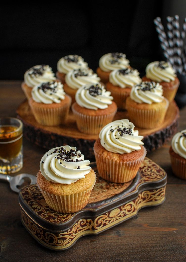 Boozy cupcakes say Christmas to me. Try these rum and raisin cupcakes, busting with spiced rum infused fruit.