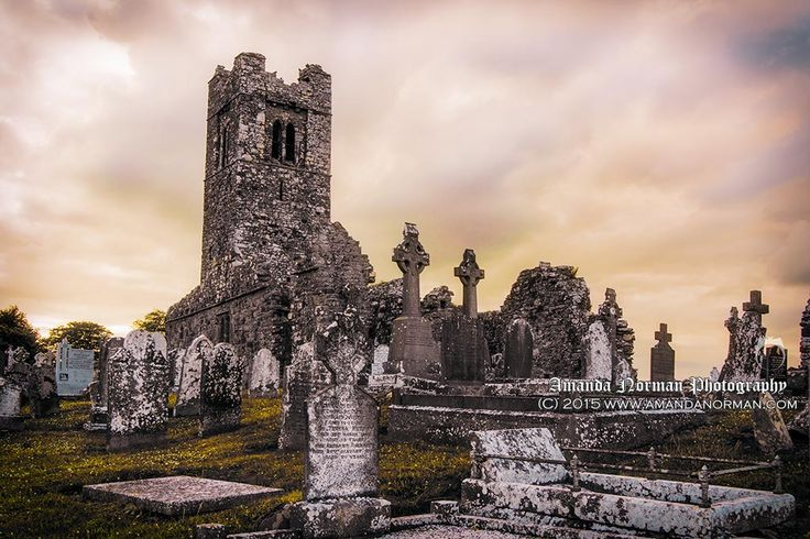 Hill of Slane at Sunset by AMANDA NORMAN.  The best thing about taking landscape pictures at cemeteries is the amount of ancient or recent history you are able to capture in one frame.
