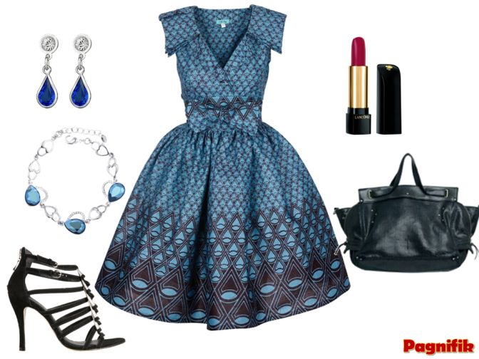 Idée de look Pagnifik - robe pagne bleu Sika Designs | Pagnifik