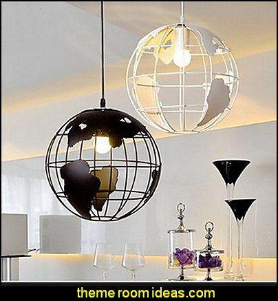Nordic Modern Simple Earth Single Head Hanging Lamp