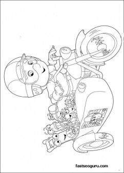 Handy Manny Motorcycle Adventure Printable Coloring Pages