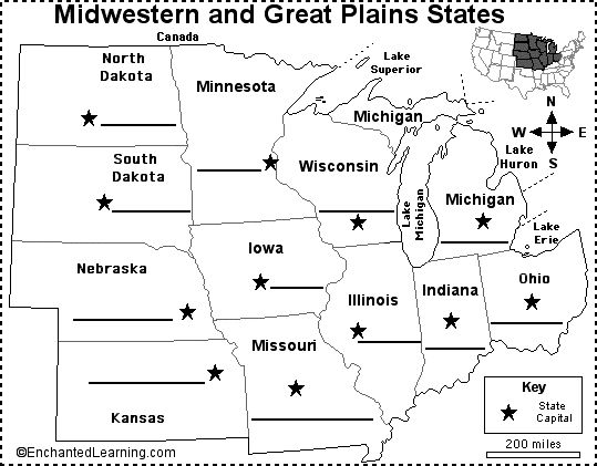 The Best United States Map Labeled Ideas On Pinterest Map - Us map midwest region