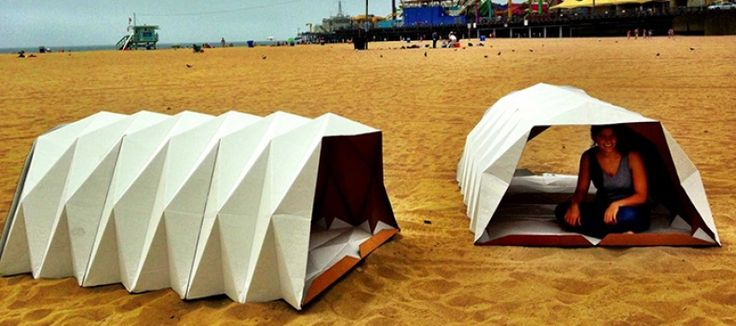 California nonprofit organization, Cardborigami, has created a simple solution to a complex problem. Inspired by origami principles of construction and folding, Tina Hovsepian designed a temporary homeless shelter that is constructed out of cardboard.  The biodegradable and recyclable structure is both water-resistant and flame-retardant. Shelters can be constructed by two people in just a half hour. Once constructed, it is easily collapsible and transportable.