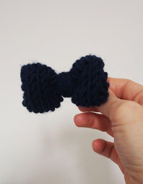 fiocco blu  papillon blu  regalo  accessorio capelli  di iliium